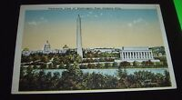 Panoramic View Of Washington D.C. From Virginia Hills Vintage Postcard Unposted