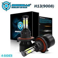 4Sides H13 9008 COB LED Headlight Bulbs Conversion Kit High Low Beam 6500K 2400W