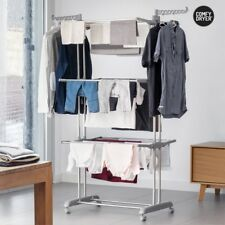 Chrome Extra Large Clothes Airer 3 Tier Indoor Laundry Dryer Rack Foldable