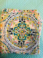 Cynthia Rowley Fabric Shower Curtain ~ Happy Elephant Medallion