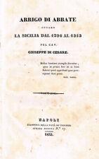 1833 - Sicilia - ARRIGO DI ABBATE OVVERO LA SICILIA DAL 1296 AL 1313.