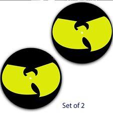 """Set of 2 Wu Tang Clan Dj Slip mat 7"""" Scratch Slipmat Portablism Numark"""