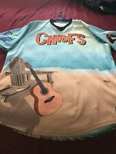 Peoria Chiefs Jimmy Buffett Night Promo Jersey Game Worn Auto XXL 2XL