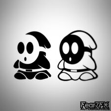 2x SHY GUY MARIO CAR DECAL STICKER JDM EURO LAPTOP SNES MOBILE DOOR GAME WII 3DS