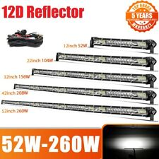 "12"" 22"" 32"" 42"" 52"" OffRoad Led Light Bar Slim Combo for 4x4 Truck SUV ATV Boat"