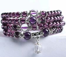 Amethyst Prayer Beads Rosary Buddhist Purple Mala 108 bracelet necklace 6mm
