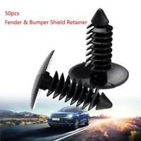 50pcs Auto Car Door Fender Hole Trim Panel Screw Rivets Fastener Trims Clips w/