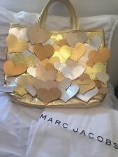 $1795 MARC JACOBS LEATHER METALLIC HEARTS LOVE STORY TOTE - SOLD OUT!