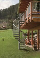 Spiral Staircase Kit Outdoor Steel RONDO ZINK 120 /140/ 160 cm / Balustrade incl