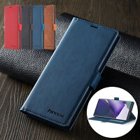 For Samsung S21 Plus S21 Ultra S20FE Note20 Flip Leather Wallet Stand Case Cover