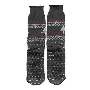 Mens Fairisle Non Slip Grippers Winter Fairisle Slipper Socks Lounge Sock 9-11
