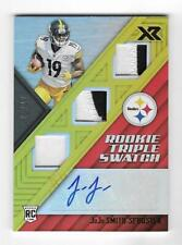 JuJu Smith-Schuster 2017 XR ROOKIE TRIPLE SWATCH AUTOGRAPH CARD Steelers RC AUTO