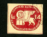 Italy Stamps # 3 VF Used Sassone 260 Eu
