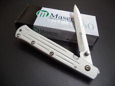 Maserin Maniago Italy Knives Grey Aluminum Hi Tech Stiletto Folder Knife 620