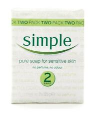 SIMPLE SENSITIVE SOAP BAR 2 PACK 125G