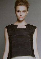 NWT Vera Wang Silk sz 6 Layered Bias Top with tulle trim  $895