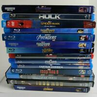 14 Movie Lot MCU Marvel Movies 4k, Blu ray, DVD w/ Slipcases Tested Avengers