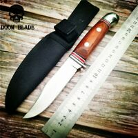 Tactical Hunting Knife Outdoors Camping Survive Knives Diving with Nylon Sleeve