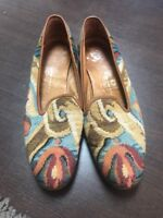 Stubbs & Wootton Needlepoint Loafers Size 7.5 Vintage