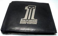 Harley Davidson No 1 Dark Custom Leder Geld Tasche Börse Geldbeutel Geldbörse