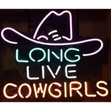 """New Long Live Cowgirls Neon Sign 20""""x16"""" Bar Pub Gift Light Lamp"""