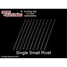 Zinge Industries Flexible Rivet Strips Set of 10 Single Small Rivets New S-DEC06
