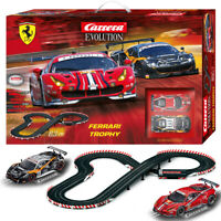 Carrera Evolution 25230 Ferrari Trophy 1/32 Slot Cars 20.66 FT 1/24 Track