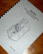 SIGMA Mechanical Upright REEL SLOT MACHINE Operations Manual