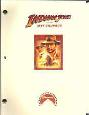 Indiana Jones and the Last Crusade movie script