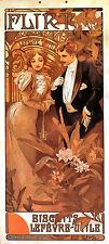 Repro Art NouveauPrint  ' Flirt' by Alphonse Mucha