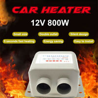 Portable Car Heater Fan Defroster Demister 12V 800W Vehicle Ceramic Heating AU