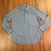 Peter Millar Mens Button Down Shirt Sz XL Plaid Checkered Casual Dress