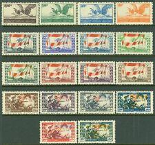 EDW1949SELL : LEBANON 1946 Scott #189-96, C101-110 Cplt sets VFMint OGH Cat $128