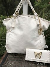 bebe Bag and matching wallet Butterfly Accent Color White
