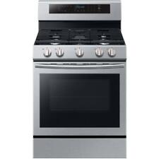 """Samsung Nx58M6630Ss 30"""" Stainless Freestanding Self Clean Convection Gas Range"""