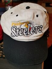 Pittsburgh Steelers Vintage White Snapback hat 90's DREW PEARSON COMPANY RARE!!