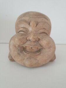 Holz Buddha Figur Kopf