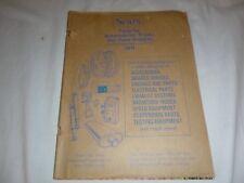 Vtg 1971 Sears Roebuck & Company Auto Truck & Dune Buggy Parts Catalog