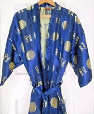 'Martha's' Oriental Silk Dressing Gown - Stated Size F2 (Medium)