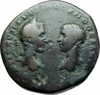 MACRINUS & DIADUMENIAN 217AD Ancient Marcianopolis Roman Coin LIBERALITAS i78978