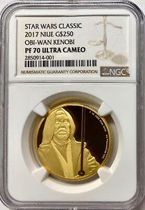 2017 Niue 1oz Gold Star Wars Obi-Wan NGC PF70 UCAM