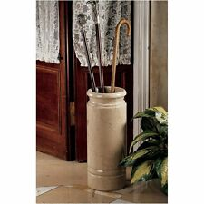 BX1385 - Authentic 44-lb. Solid Ivory Marble Cane and Umbrella Vessel/Stand