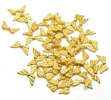 48 Angel Wings Gold Plated Beads Cast Zinc Metal Beads 20x9mm