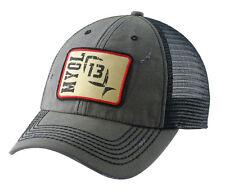 13 Fishing Guy on a Buffalo Hat Grey Charcoal Snapback Red Logo Patch Cap GOP