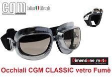 Occhiali CGM 701V-CLASSIC Cromati con Lente Fumè per Caschi tipo Custom