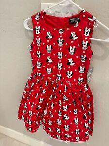 NWT DISNEY minnie mouse girls dress SZ 9/10