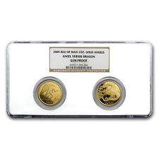 2009 Isle of Man 2-Coin 1 oz Gold Angel vs Dragon Set PF-69 NGC - SKU #83818