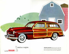 1949 Mercury Woody  Station Wagon Dealer Showroom Wall 8 x 10  Giclee Print
