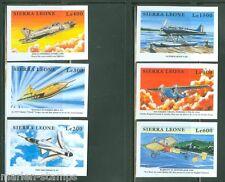 SIERRA  LEONE  IMPERF AIRPLANES SET  SC#2166/71   MINT NH