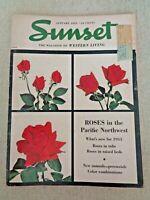 Sunset Magazine Jan 1953 Death Valley Manzanillo Mexico California Roses Azaleas